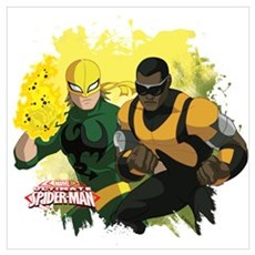 Iron Fist and Luke Cage Wall Art Poster
