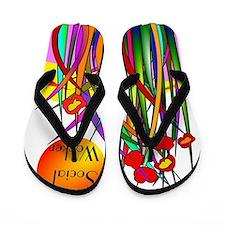 Social Worker 2014 Flip Flops