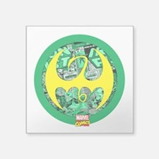 "Iron Fist Logo 2 Square Sticker 3"" x 3"""