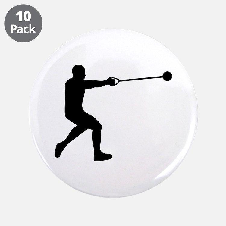 "Hammer throw 3.5"" Button (10 pack)"