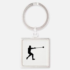 Hammer throw Square Keychain