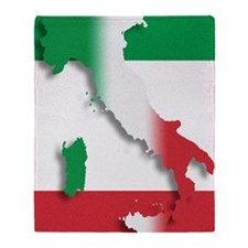 Italy Italian Flag Throw Blanket