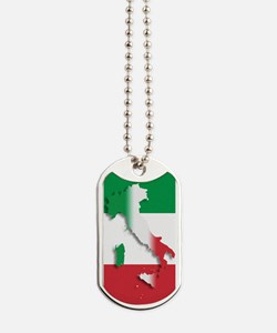 Italy Italian Flag Dog Tags