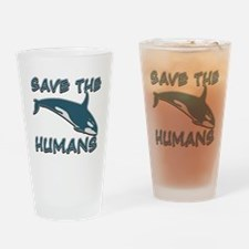 Save the Humans Drinking Glass