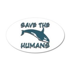 Save the Humans Wall Decal