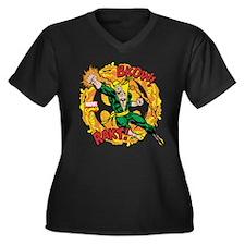 Iron Fist Bu Women's Plus Size V-Neck Dark T-Shirt