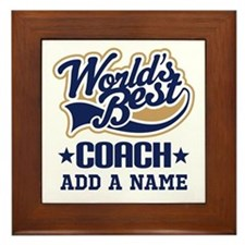 Personalized Coach Gift Framed Tile