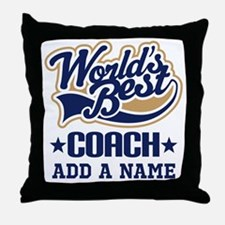 Personalized Coach Gift Throw Pillow