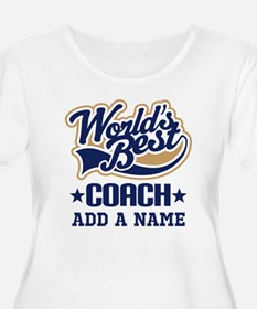 Personalized Coach Gift Plus Size T-Shirt
