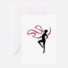 Rhythmic gymnast Greeting Card