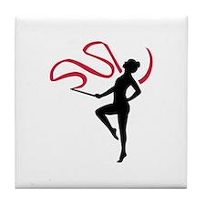 Rhythmic gymnast Tile Coaster