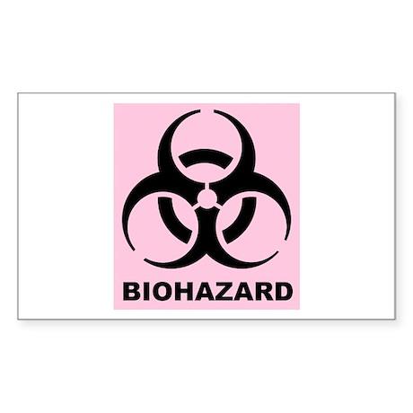 Girl's Biohazard Sticker