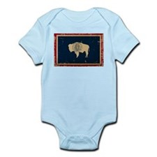 Wyoming Flag VINTAGE Body Suit