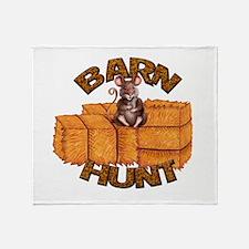Barn Hunt Throw Blanket
