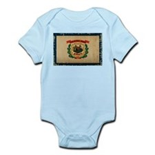 West Virginia State Flag VINTAGE Body Suit