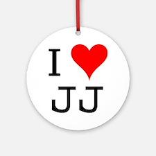 I Love JJ Ornament (Round)