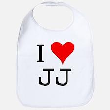 I Love JJ Bib