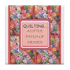 Vintage Quilt Tile Coaster