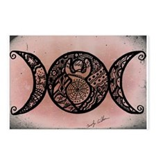 Triple Moon Goddess Pink Postcards (package Of 8)