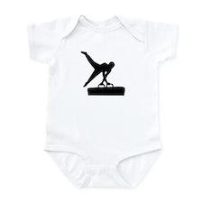 Gymnast pommel horse Infant Bodysuit
