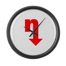 bignredtrans.png Large Wall Clock