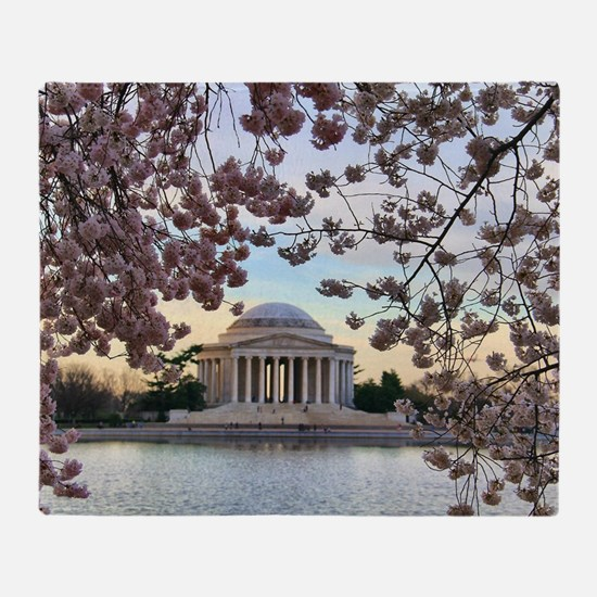 Jefferson Memorial Throw Blanket