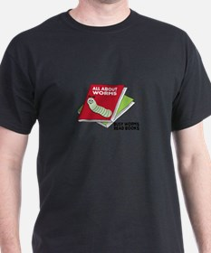 Busy Worms Read Books T-Shirt
