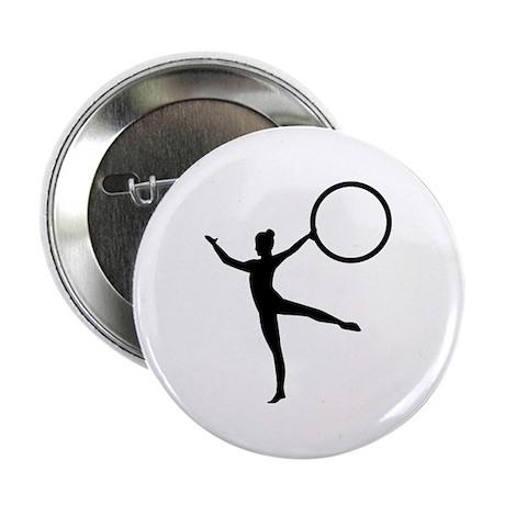 "Gymnastics gymnast 2.25"" Button"