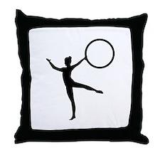 Gymnastics gymnast Throw Pillow