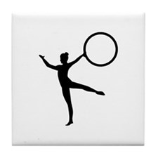 Gymnastics gymnast Tile Coaster