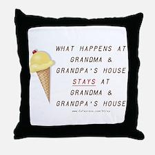 Grandma & Grandpa's Throw Pillow