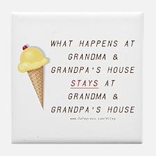 Grandma & Grandpa's Tile Coaster