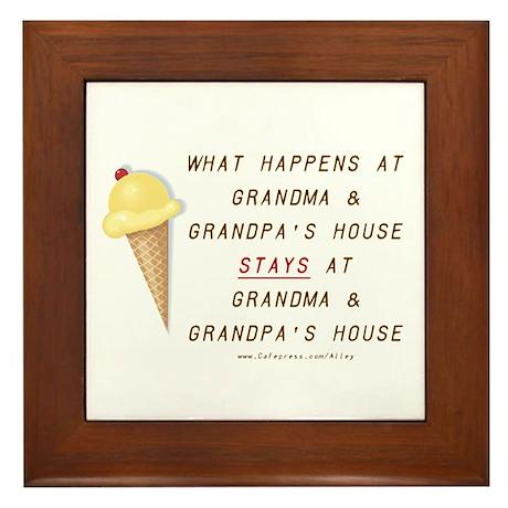 Grandma & Grandpa's Framed Tile
