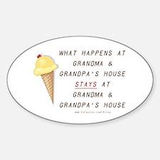 Grandma & Grandpa's Oval Decal