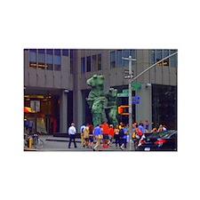 Street Corner Statue  Rectangle Magnet