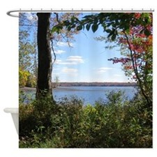 Reservoir Nature Scenery Shower Curtain