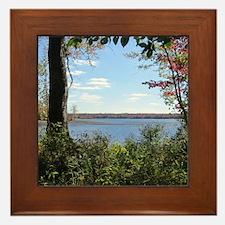 Reservoir Nature Scenery Framed Tile