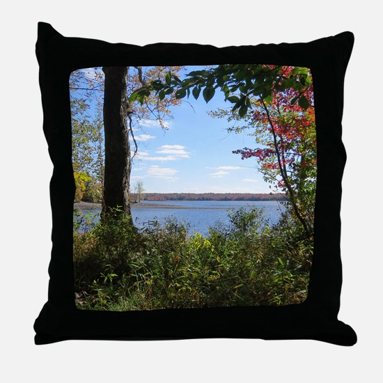 Reservoir Nature Scenery Throw Pillow