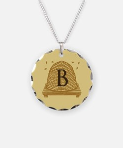 MONOGRAM Bee Hive Necklace