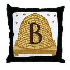 MONOGRAM Bee Hive Throw Pillow