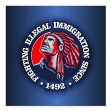 Native American (Illegal Immigration) Square Car M