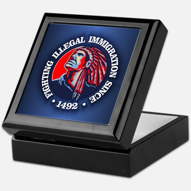 Native American (Illegal Immigration) Keepsake Box