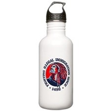 Native American (Illegal Immigration) Water Bottle