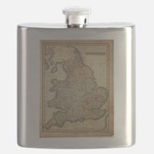 1808 Map of England and wales Flask
