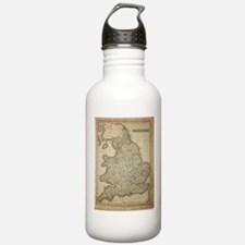 1808 Map of England and wales Sports Water Bottle