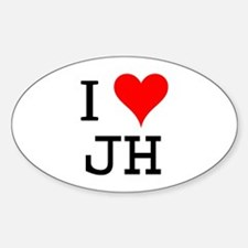 I Love JH Oval Decal