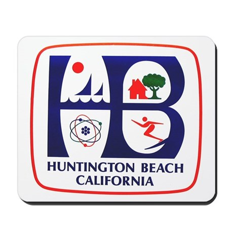 Surf city usa huntington beach mousepad by civicseal for Huntington card designs
