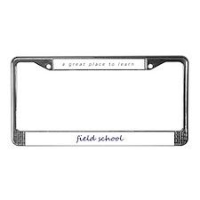 Field School License Plate Frame