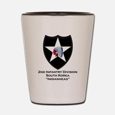 2nd Infantry Indianhead Shot Glass