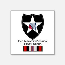 "2nd ID Afghanistan Square Sticker 3"" x 3"""